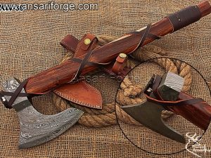 Damascus-steel-Viking-Axe
