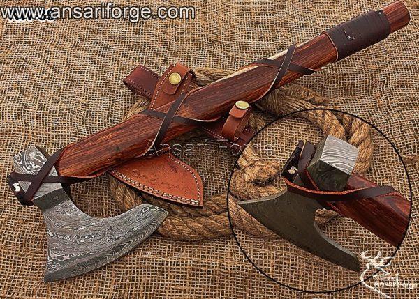 Damascus-steel-Viking-Axe