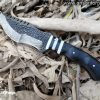 Custom Handmade Forged Damascus Steel Tracker Knife