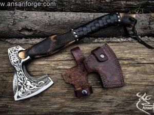 Custom handmade forged Viking Axe